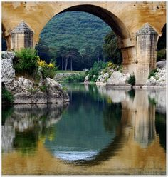 Pont du Gard  Languedoc-Roussillon - we walked across this river...long story but very fun