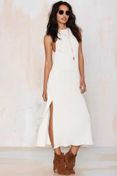 More than a Feelin' Ribbed Maxi Dress - Day | Midi + Maxi | LWD | Solid | Basic