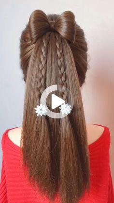 10 Easy and Cute Hairstyles for Long Hair for Girls Cute Hairstyles For Medium Hair, Wedding Hairstyles For Long Hair, Quick Hairstyles, Medium Hair Styles, Natural Hair Styles, Short Hair Styles, Diy Hair Hacks, Braid Tool, Hair Care