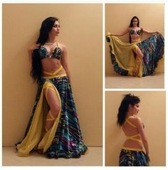 Dança do ventre Roupa de dança do ventre Belly Dance