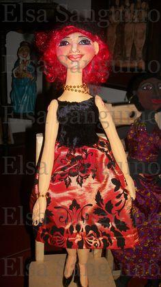 """Claire""  Hand made fabric doll.  Elsa Sanguino. 2013"