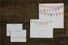 e are embracing the bunting frenzy with our cute bunting wedding invitations printed on high quality laid card for the ultimate hand made feel