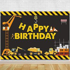 3rd Birthday Party For Boy, Birthday Themes For Boys, Birthday Decorations, Car Themed Birthday Party, Birthday Ideas, Construction Party Decorations, Construction Birthday Parties, Construction Theme Cake, Construction Signs