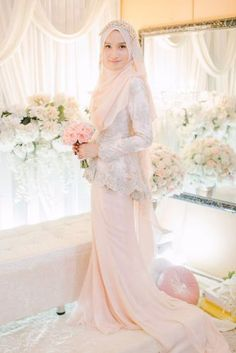Inspiration for Bridal Gau Model- Inspirasi Model Gau Pengantin Inspiration for Bridal Gau Model - Muslimah Wedding Dress, Muslim Wedding Dresses, Dream Wedding Dresses, Wedding Attire, Muslim Brides, Wedding Suite, Muslim Couples, Bride Dresses, Bridal Hijab