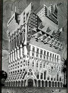 loquefuimos:  Pedro Friedeberg. Architecture D'Aujourd'Hui 102 Jun 1962