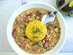 """NAWLINS"" White Beans  - make with traditional white (or brown) rice rather than yellow"