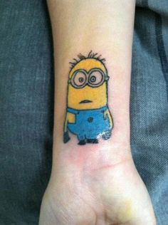 MINION TATOO!! love it!! lol