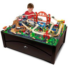 Have to have it. KidKraft Metropolis Train Set Table with Trundle Drawer $184.17