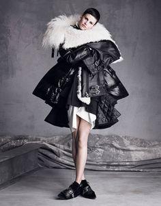 Saskia de Brauw wearing  #Sacai #VogueNippon #SeptemberIssue