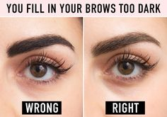 This can make you look like Groucho Marx's twin. The key to making your brows look darker but natural is not getting the formula you're using on your skin. If you have a bald spot you're trying to fill in, that's one thing, but if you're just trying to deepen your brow hair color, your best bet is a brow mascara that you can lightly swipe on for a more dramatic yet believable effect. Try L'Oréal Paris Brow Stylist Plumper Brow Gel Mascara. To see a full article on this technique, click…