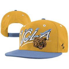 separation shoes dfad3 6f503 UCLA Bruins Gold Night Blue Shadow Script Snapback Adjustable Hat