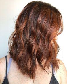 Copper Balayage Brunette, Light Brunette Hair, Light Blond, Auburn Balayage, Blonde Balayage Highlights, Dark Hair With Highlights, Brown Hair Balayage, Hair Color Balayage, Ombre Hair