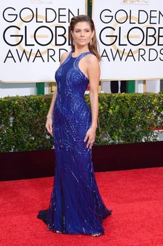 Top Dresses at the Golden Globes 2015 - Maria Menounos donned a beaituful blue gown