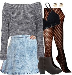 Edgy Hanna Marin inspired outfit por liarsstyle usando high waisted skirts
