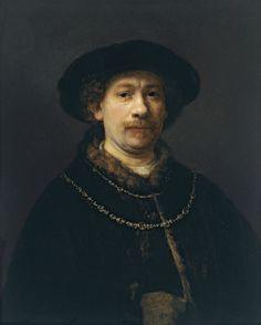 Rembrandt, Autorretrato con gorra y dos cadenas (ca. 1643-43, Museo Thyssen, Madrid)