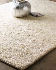 Exquisite Rugs White Shag Rug - Horchow