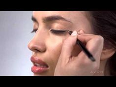 "AVON Make up tutorial with Irina Shayk ""Modern Edge Look'' Get your beauty collection at www.youravon.com/igrooms"