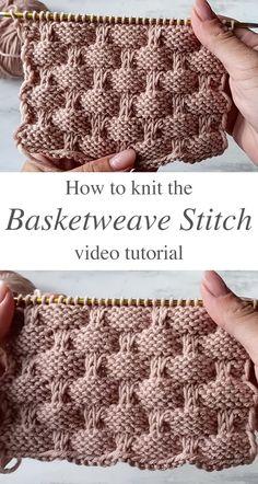 Knitting Stiches, Easy Knitting, Baby Knitting Patterns, Crochet Stitches, Stitch Patterns, Crochet Patterns, Knitting Needles, Crochet Hooks, Knitting Projects