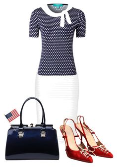 """Independence Day!"" by paperdollsq ❤ liked on Polyvore featuring Lipsy, Versace and MKF Collection"