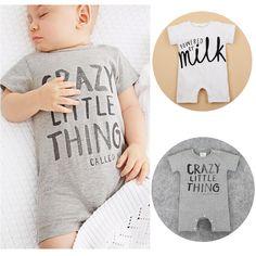 2017 Summer Infant Kids Newborn Baby Girl Boy Unisex Short Sleeve Romper O-Neck Cotton Jumpsuit Outfits Letter Print Playsuits #Affiliate