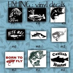Fish Tribal Sticker Boat Decal Fishing Rod Line Lure Seafood Tank - Custom vinyl decals for rc boats