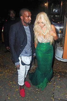 Couple costume inspiration: Kanye West as a sailor and Kim Kardashian as a mermaid.