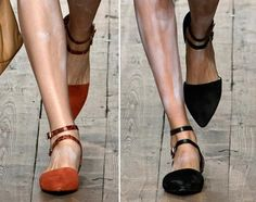 5. Vivienne Westwood Red Label Spring 2014- flat suede shoes resembling the time period because they are flat