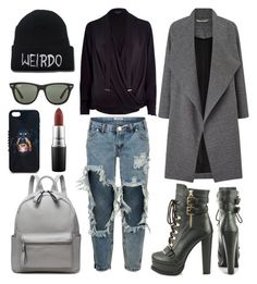 """""""521. November"""" by nellanansson on Polyvore featuring River Island, One Teaspoon, Miss Selfridge, Luichiny, Ray-Ban, Givenchy and MAC Cosmetics"""