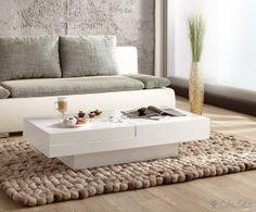 Couchtisch Magica 120x60 Hochglanz Weiss Rechteckig Wohnzimmer Tisch