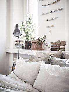 An armchair in a corner