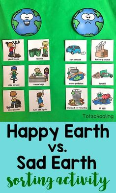 This FREE Earth Day sorting activity goes beyond just recycling, teaching kids a. - This FREE Earth Day sorting activity goes beyond just recycling, teaching kids a… – # - Earth Day Projects, Earth Day Crafts, Earth Craft, Earth Day Activities, Sorting Activities, Earth Day Kindergarten Activities, Day Care Activities, Earth Day Games, Ocean Activities