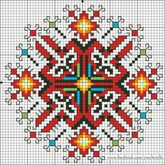 Modern Folk Embroidery Modern composition, Elizabeth's Crochet Jewelry The dancing goddess Modern Cross Stitch, Cross Stitch Charts, Cross Stitch Designs, Cross Stitch Patterns, Folk Embroidery, Cross Stitch Embroidery, Embroidery Patterns, Mandala, Palestinian Embroidery