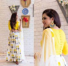 Checkout on Roposo.com - Kaavifab Buy Yellow Floral Printed Designer Lehenga Choli @999/- only