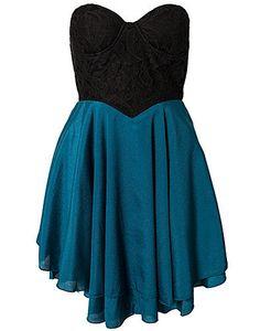 leyasha's save of Sweetheart Neckline Dress, Club L on Wanelo