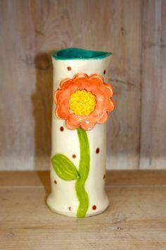 tall, hand-built ceramic vase. $40