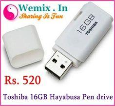 Toshiba 16GB Hayabusa Pen drive Rs. 520 Memory Storage, Usb Flash Drive, Usb Drive