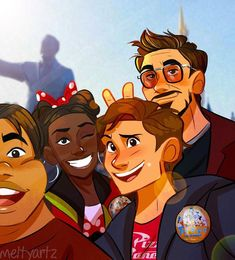 Read 🥀Disney Land🥀 from the story Avenger's One-Shots/ IronDad & Spiderson (ON HIATUS) by Raven_Hellfire (~Raven~) with reads. Spideypool, Superfamily Avengers, Marvel Funny, Marvel Memes, Marvel Avengers, Avengers Actors, Avengers Humor, Avengers Characters, Spiderman Marvel
