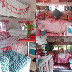 Very pink, very cute and girlie campers! If you love Glamping, you'll love these!