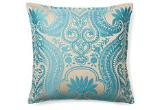 Royal 16x16 Pillow, Turquoise    Anna's Fabulous Things    $59.00