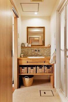 洗面室(築25年団地 珪藻土で落ち着くお家) - バス/トイレ事例|SUVACO(スバコ)