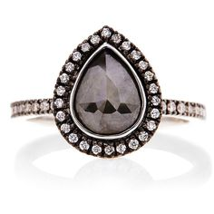 Sethi Couture black diamond engagement ring