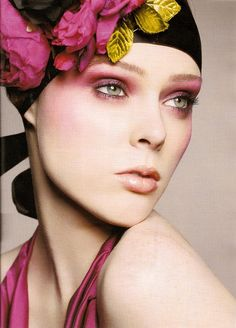 glamour makeup | Coco Rocha, Glamour UK September 2008a
