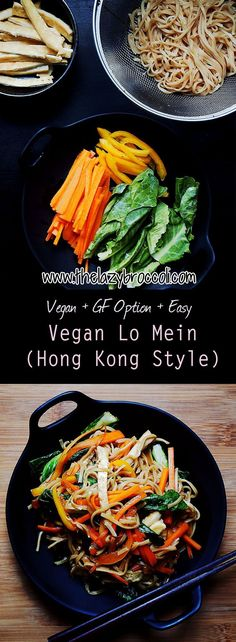 This super easy hong kong style vegan lo mein recipe is one that you shouldn't miss! It's absolutely delicious plus you don't need any fancy ingredients or equipment. For gluten-free version, you can just use rice noodles instead of wheat noodles - which