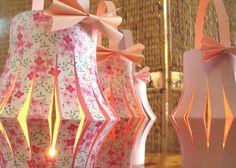Tiboud'papier  | Lanternes | .. Après les étoiles , voici d'autres éléments décoratifs, confectionnés pour un évènement qui s...
