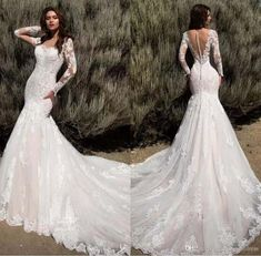 New Arrival 2018 Mermaid Wedding Dresses Sheer Long Sleeves Illusion Back Bridal. - New Arrival 2018 Mermaid Wedding Dresses Sheer Long Sleeves Illusion Back Bridal Gowns Full Lace Vi - Sheer Wedding Dress, Classic Wedding Dress, Lace Mermaid Wedding Dress, Black Wedding Dresses, Wedding Dresses Plus Size, Mermaid Dresses, Bridal Dresses, Dress Lace, Wedding Gowns