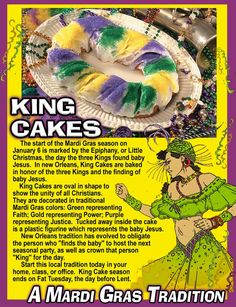 King Cakes are a Mardi Gras Tradition
