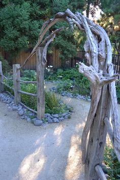 inspiration ~ entrance to the herb garden and rabbit garden