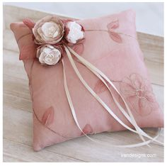 Ring Pillow. Pale Chestnut Handmade Wedding Ring Pillow With Fabric Handmade…