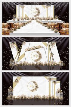 Irregular marble wedding renderings#pikbest#decors-models Wedding Stage Backdrop, Wedding Backdrop Design, Wedding Stage Design, Wedding Stage Decorations, Backdrop Decorations, Indian Wedding Receptions, Wedding Mandap, Wedding Lanterns, Wedding Mood Board