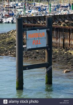 Harbour Full Sign At The Entrance To Yarmouth Harbour Isle Of Wight Stock Photo, Royalty Free Image: 24361919 - Alamy